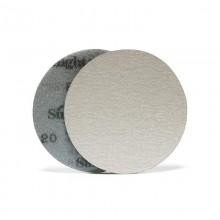Шлифовальный круг WHITE B322T 125мм на липучке, без отв, белёсый
