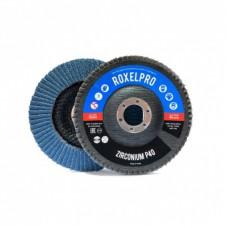 RoxelPro Лепестковый круг ROXONE 125 х 22мм, цирконат, конический