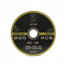 RoxelPro Отрезной круг ROXTOP FAST CUT 125 x 1,0 x 22мм, Т41, нерж.сталь, металл