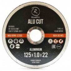 RoxelPro Отрезной круг ROXTOP ALU CUT 125 x 1.0 x 22мм, Т41, алюминий
