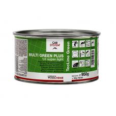 """Шпатлевка 2К полиэфирная  супер легкая """"Multi Green Plus 1,0 SUPER Light"""", зеленая (1 кг)"""