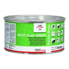 """Шпатлевка 2К полиэфирная универсальная стекловолокнистая """"Multi Glas Green"""", зеленая (1,65кг)"""