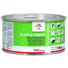 """Шпатлевка 2К полиэфирная эластичная, доводочная """"Elastic Green"""", зеленая (2 кг)"""