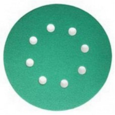 Шлифовальный круг FILM L312T 125мм на липучке, 8 отв, зелёный