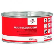 Шпатлевка 2К полиэфирная универсальная Multi Silver Light , серебро, 1,5 кг