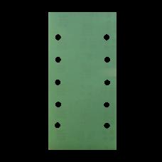 Шлифовальная полоска FILM L312T 115х230мм на липучке 10 отв, зелёная