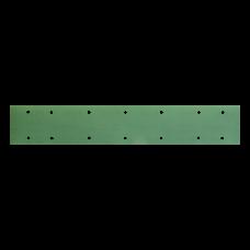 Шлифовальная полоска FILM L312T 70х420мм на липучке 14 отв, зелёная