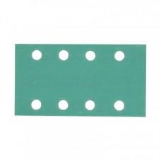 Шлифовальная полоска FILM L312T 81х133мм на липучке 8 отв, зелёная