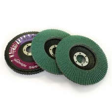Тарельчатый лепестковый круг С656 125 х 22мм, зелёный