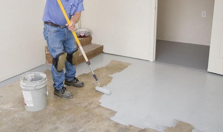 правила окрашивания бетонного пола